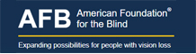 American foundation for the blind 로고